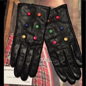 Beautiful Black Leather Gloves by Kate Spade